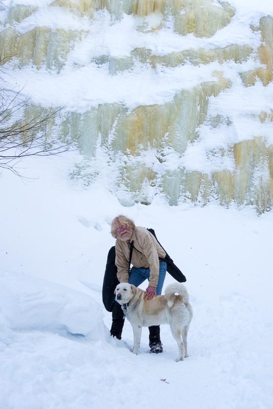 Tim and Foster at Bridal Veil Falls
