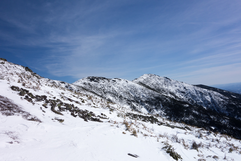 A look back at the ridge from the way down
