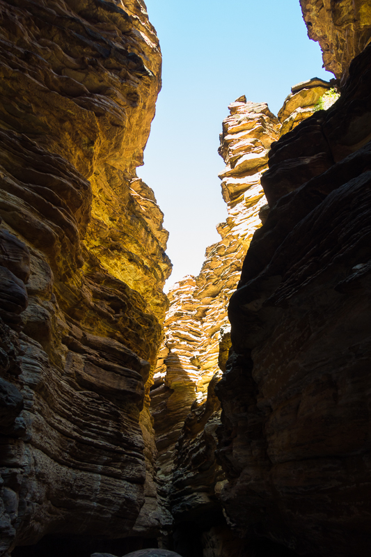 Tapeats sandstone slot canyon