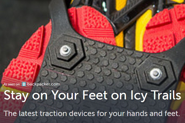 Backpacker, Stay On Your Feet On Icy Trails